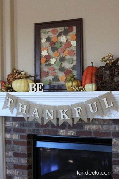 Thanksgiving Mantel From Landeelu