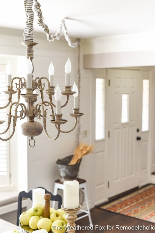 The Weathered Fox Chandelier Makeover 11