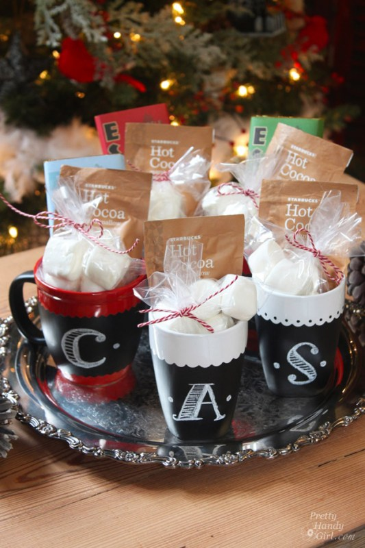 Chalkboard Painted Mugs Cocoa