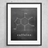 Mint And Copper Kitchen Caffeine Art