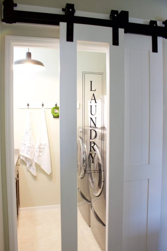 Sliding Glass Laundry Barn Door A House And A Do