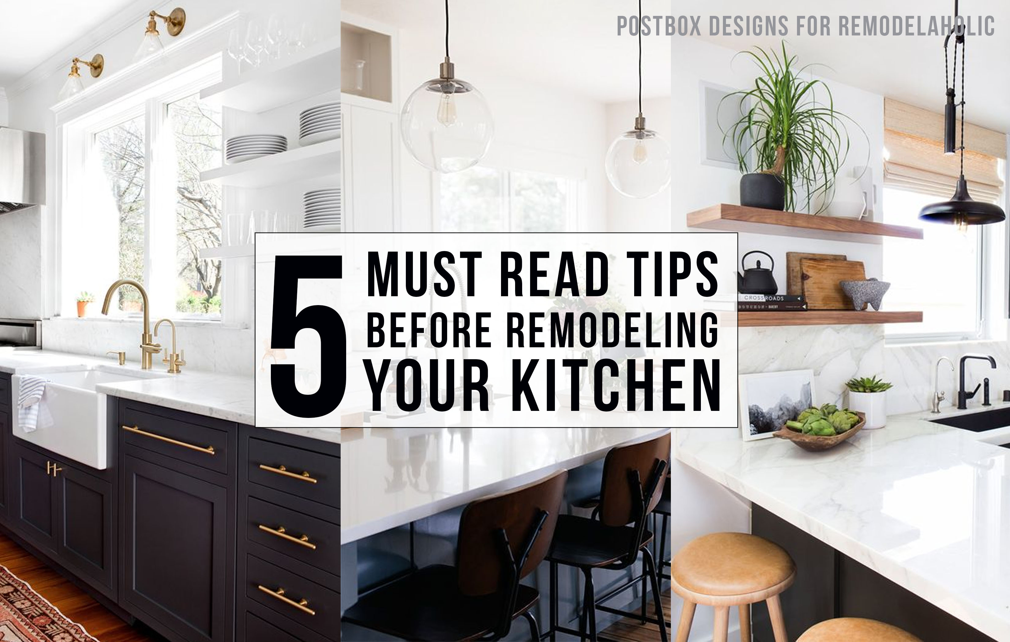 remodelaholic   5 must read tips before remodeling your kitchen + 3