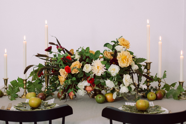 Candles And Thanksgiving Table Camille Styles