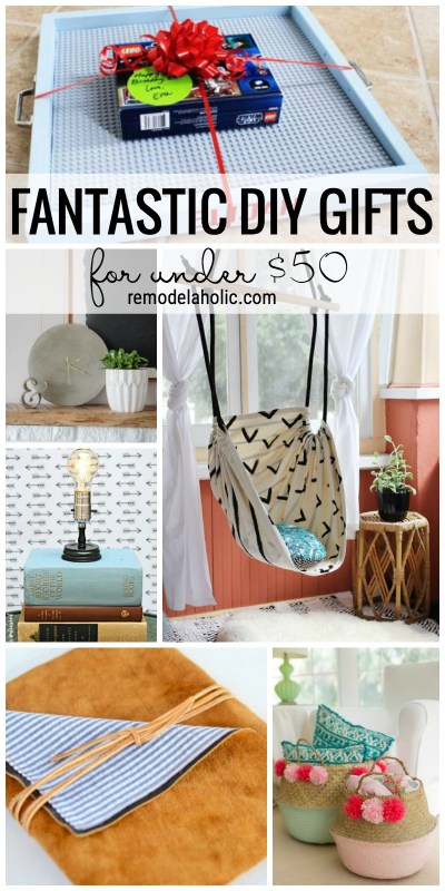Create Something Extra Special This Year With One Of These Fantastic Diy Gifts For Under 50 Via Remodelaholic Com