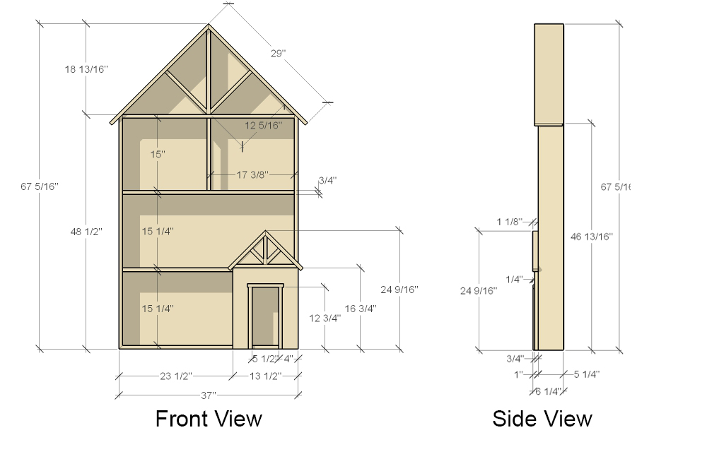 Dollhouse Plans Front View