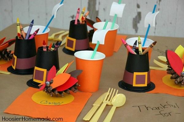 Kid Thanksgiving Table Hoosier Homemade
