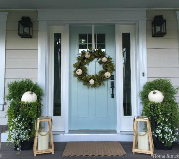 Neutral Fall Front Door Decor Ideas