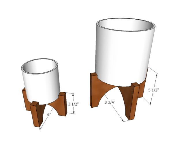 West Elm Planter Dimensions