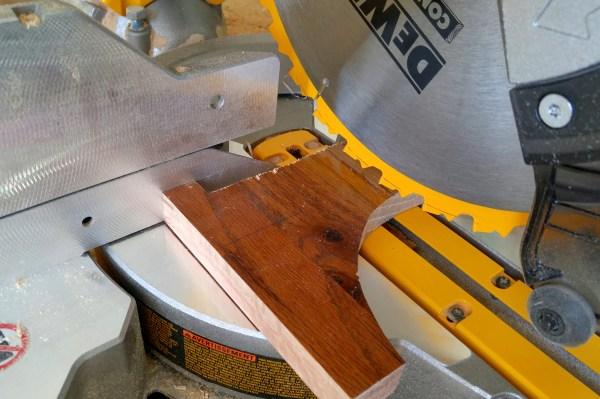 Cutting Planter Legs Wood