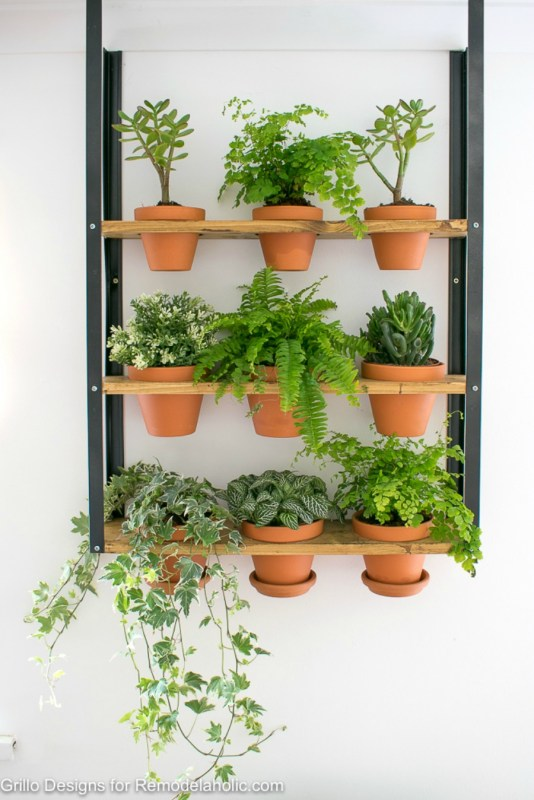Industrial Wall Planter 2
