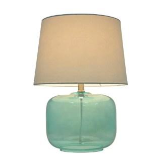 Modern Coastal Bedroom Aqua Lamp
