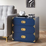 Modern Coastal Bedroom Blue Campaign Chest