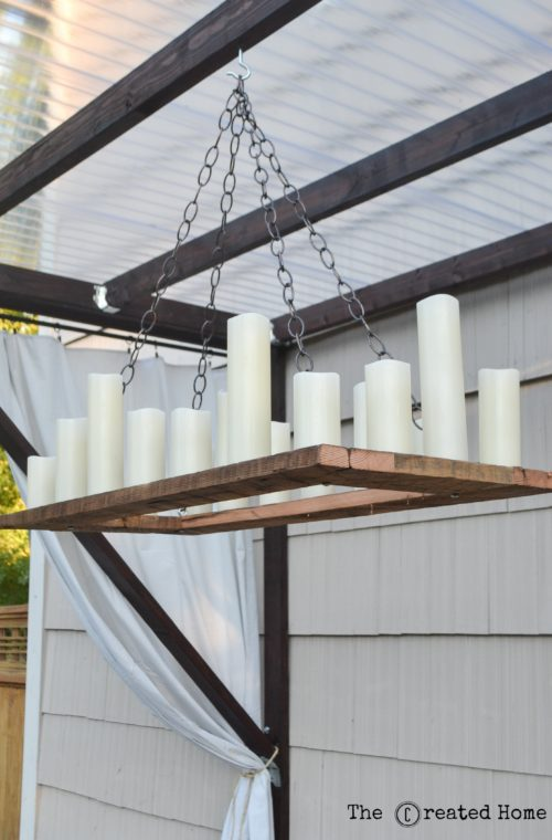 10 DIY Wireless Outdoor Chandelier Just Like Restoration Hardware, By The Creative Home Featured On @Remodelaholic