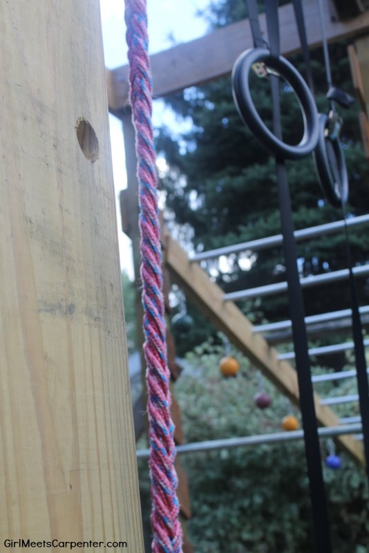 13 DIY Ninja Course, Braided Rope, By Girl Meets Carpenter Featured On @Remodelaholic