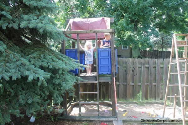 2 From Backyard Swing Set To American Ninja Warrior Course By Girl Meets Carpenter Featured On @Remodelaholic