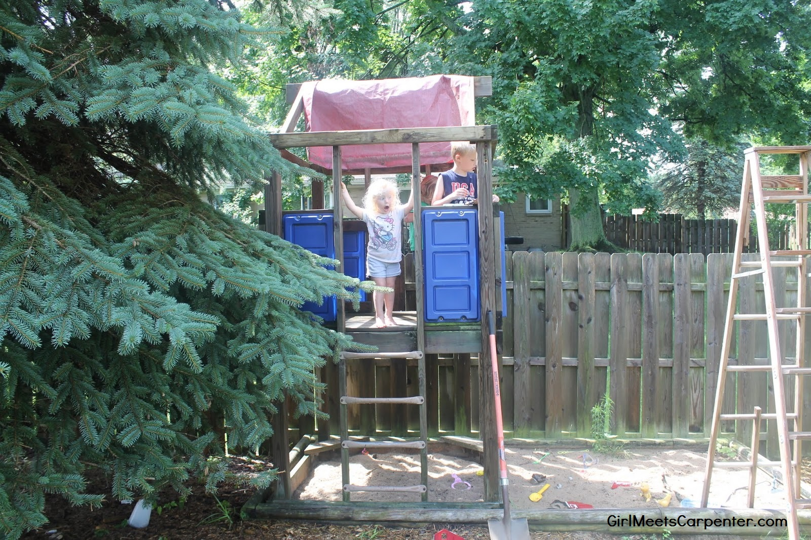2 From Backyard Swing Set To American Ninja Warrior Course By Girl Meets  Carpenter Featured On