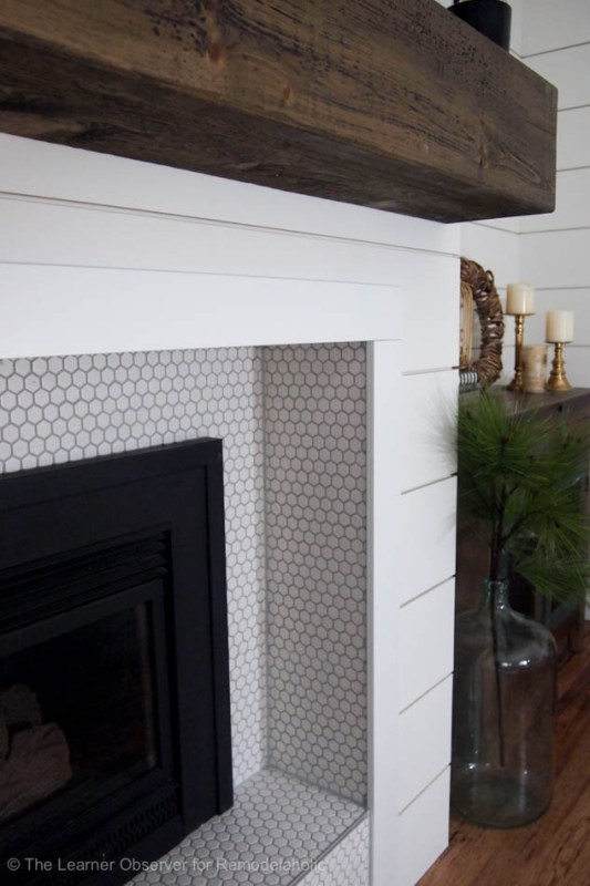 Fireplace And Mantle Makeover The Learner Observer For Remodelaholic 12