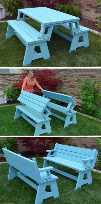 Hertoolbelt, Build Convertible Picnic Table Benches