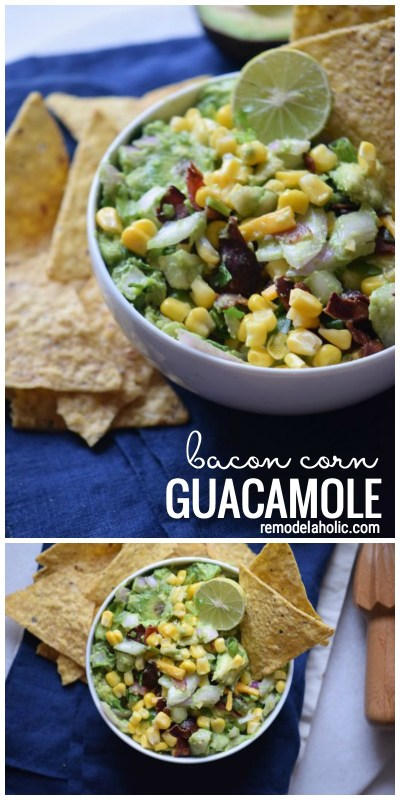 Need A Yummy Appetizer To Bring To A Party Try This Delicious Bacon Corn Guacamole Recipe Via Remodelaholic Com