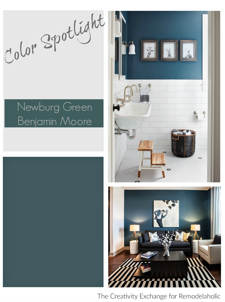 Newburg Green From Benjamin Moore. Gorgeous Accent Color.