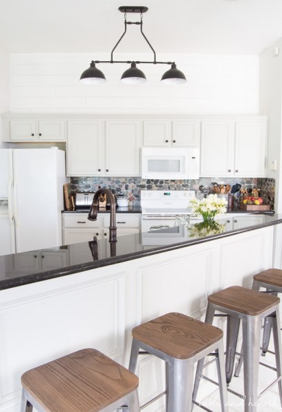 Table And Hearth, Rustic Gray Farmhouse Kitchen