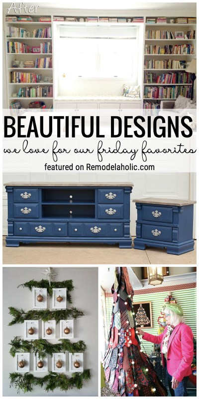 Unique Christmas Decor And Beautiful Designs Featured In Our Friday Favorites At Remodelaholic.com