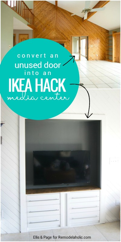Turn a narrow niche into a built-in media center just 11 inches deep with this easy and inexpensive IKEA RAST hack!