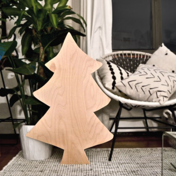 Easy DIY Plywood Christmas Tree With Lights, Best Friends Pizza Club Featured On @Remodelaholic