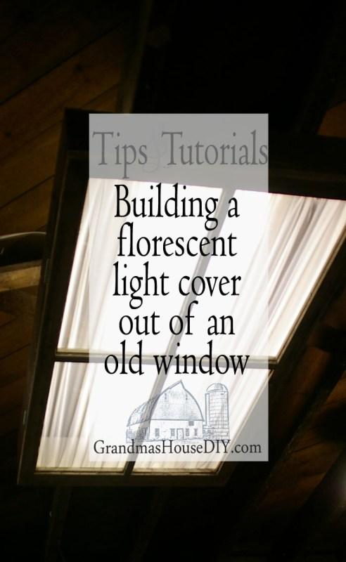 Pinit Florescent Light Cover Diy