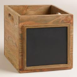Wooden Chalkboard Crate World Market