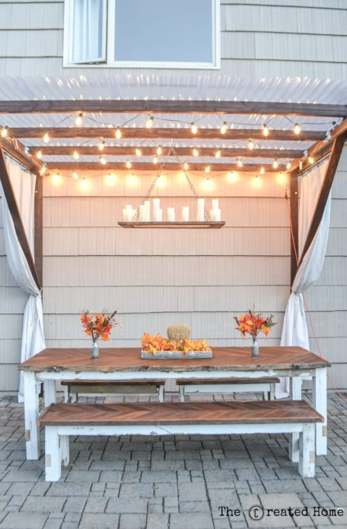 12 DIY The Perfect Outdoor Chandelier By The Creative Home Featured On @