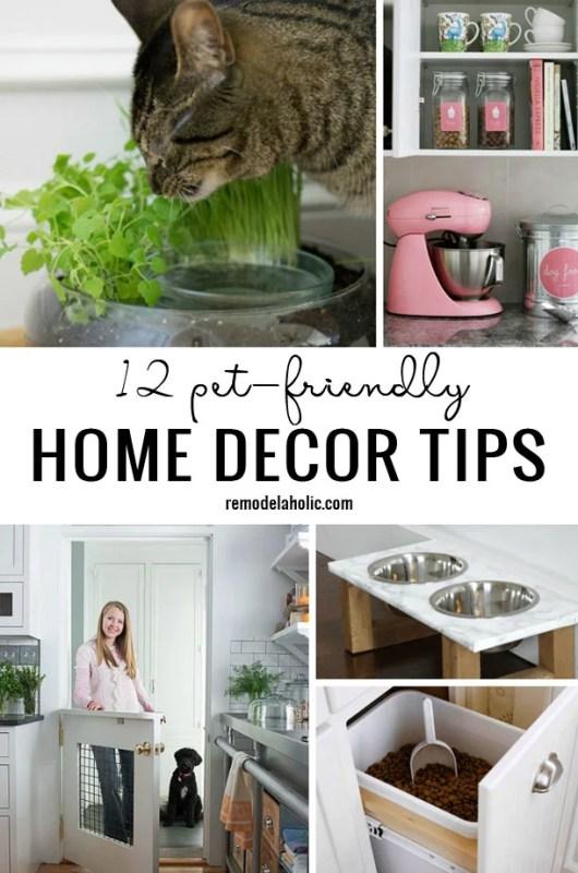 12 Pet Friendly Home Decor Tips Remodelaholic