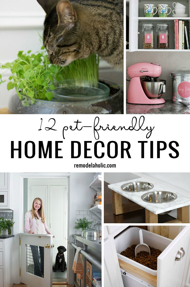 Remodelaholic | 12 Pet-Friendly Home Decor Tips