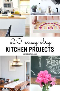 20 Easy DIY Kitchen Projects Remodelaholic