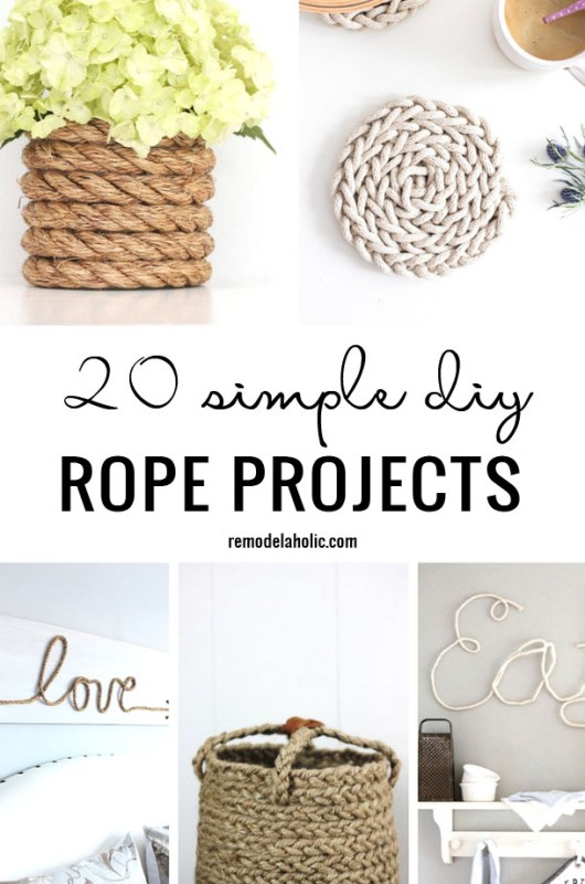 20 Simple DIY Rope Projects Remodelaholic