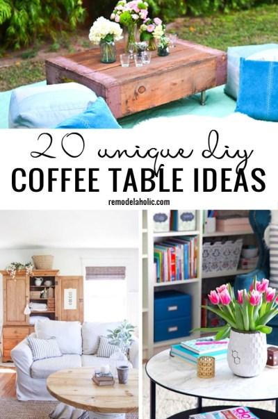 20 Unique DIY Coffee Table Ideas Remodelaholic