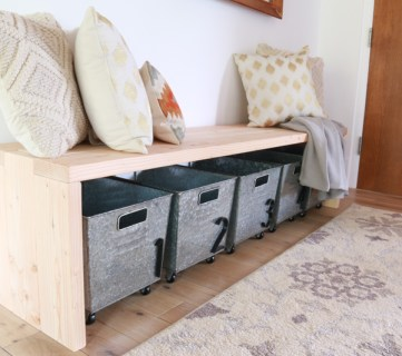 DIY 2×6 Bench, Modern Waterfall Bench Tutorial