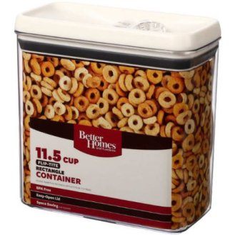 Better Homes And Gardens Flip Tite 11.5 Cup Rectangle Container