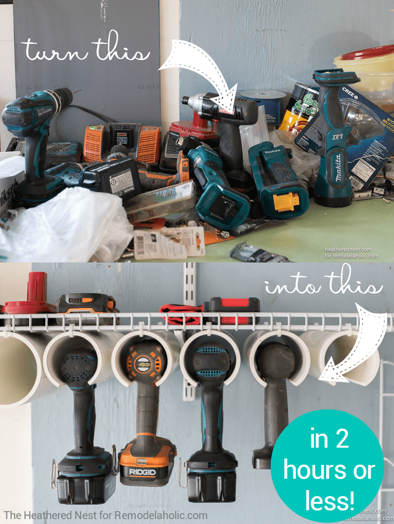 Get Your Garage Organized And Ready For More Projects With This Quick Easy DIY Power