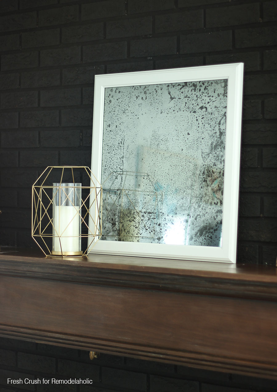 Diy Antique Mirror Black Brick1