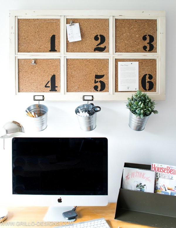 Diy Bulletin Board Tutorial For The Office Grillo Designs Www.grillo Designs.com 1 Of 1