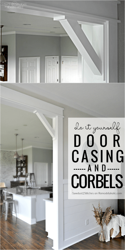 Diy Door Casing And Easy Corbels Tutorial @Remodelaholic