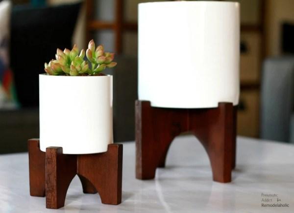 Diy West Elm Knockoff Modern Wood Tabletop Planters Feat @Remodelaholic