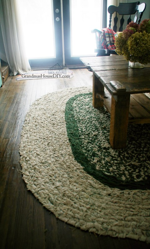 Homemade Braided Rag Rug
