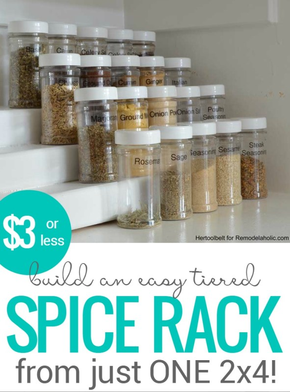 How To Build An Easy Tiered Spice Rack For Three Bucks Or Less Crop