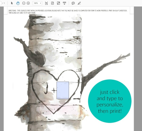 Personalized Birch Art Carved Initials Prints W Custom Text #remodelaholic