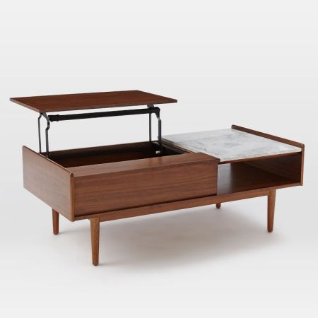 Southwestern Midcentury Storage Coffee Table