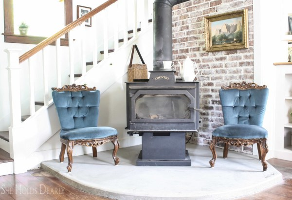 17 Tutorial For DIY Concrete Hearth, By She Holds Dearly Featured On @Remodelaholic