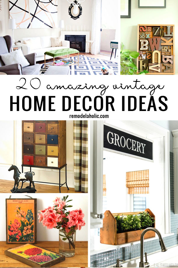 Vintage home decor diy ideas