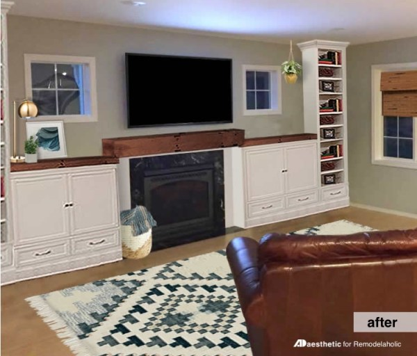 Fireplace Built-in Shelving Inspiration After